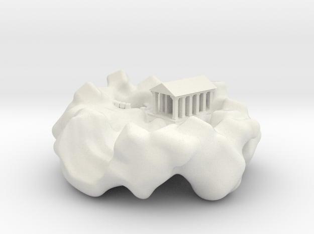 The Calassian Fire Temple in White Natural Versatile Plastic