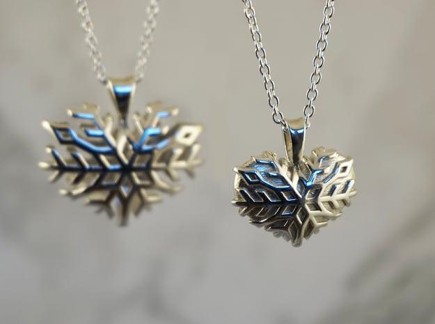 Frozen Heart in Polished Silver