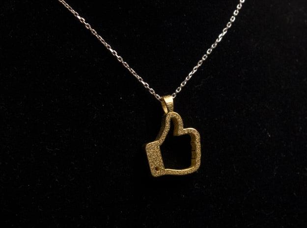 Like it [pendant] in 14k Gold Plated Brass