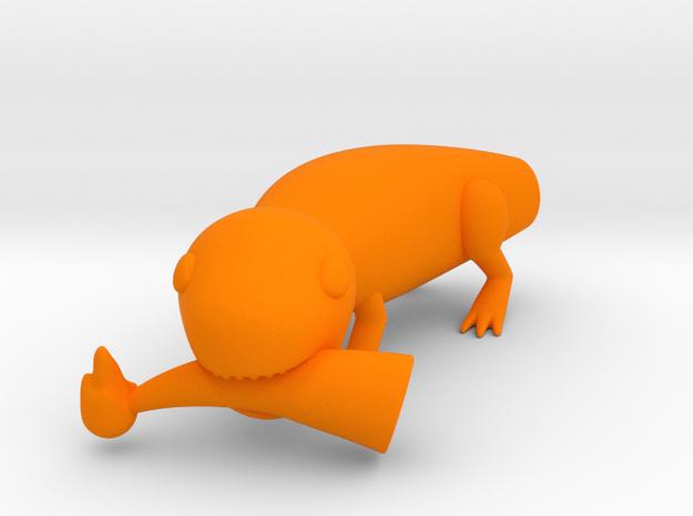 Charmin' Derp in Orange Processed Versatile Plastic