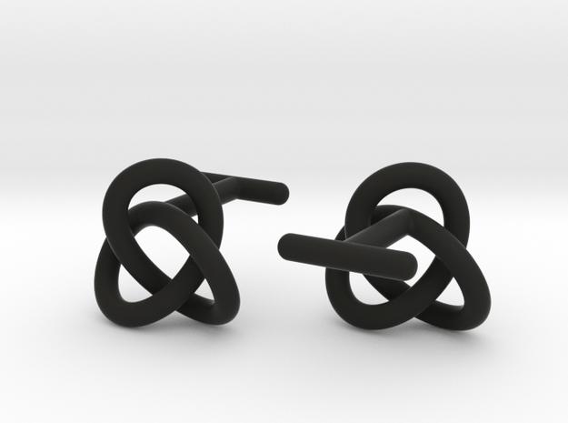 Escher Knot Cufflinks in Black Natural Versatile Plastic