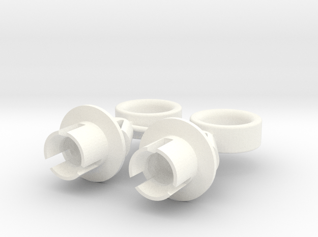 Lancia Delta 1 EVO Headlamp Clip LB 2 SET in White Processed Versatile Plastic