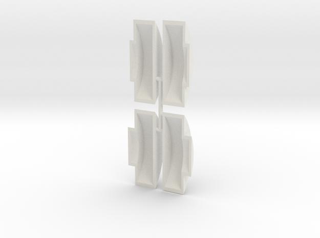 Gauge 3 Neilson Wheel Splashers in White Natural Versatile Plastic
