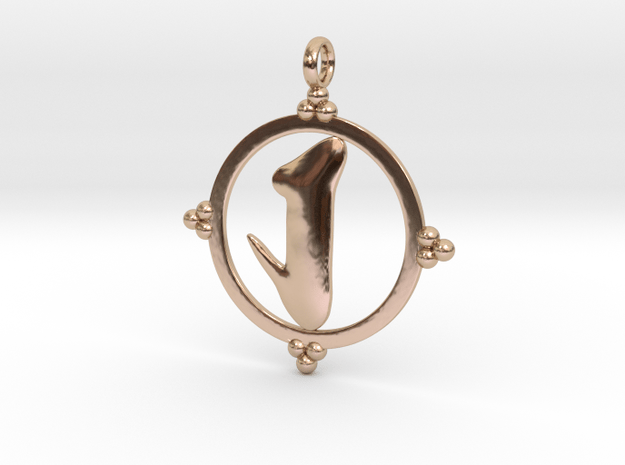 Round Ashe Pendant in 14k Rose Gold Plated Brass
