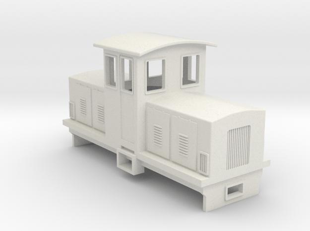 009 Electric Centrecab Locomotive (009 Jennifer 2) in White Natural Versatile Plastic