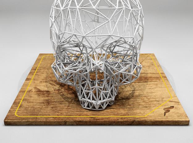 Skull in White Natural Versatile Plastic