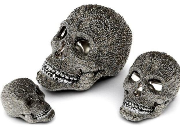 Tibetan Sugar Skull - MEDIUM in White Natural Versatile Plastic