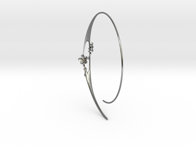 Flowers Under The Moon in Polished Silver