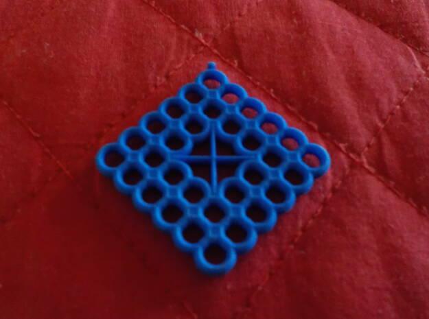 Torus Web Pendant in Blue Processed Versatile Plastic