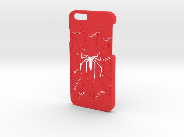 Spiderman Phone Case-iPhone 6/6s in Red Processed Versatile Plastic
