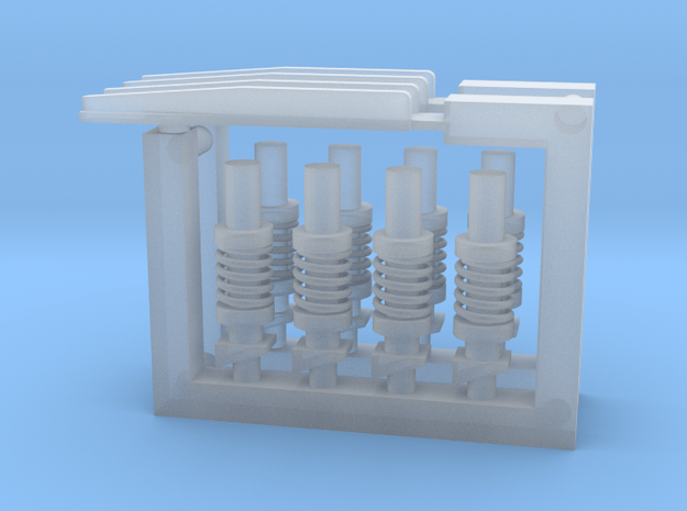 Ariane 3 and 4 PAP booster attachment fittings in Smooth Fine Detail Plastic: 1:128