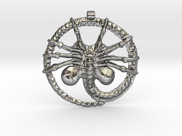 Facehugger - Amulet - Alien in Polished Silver
