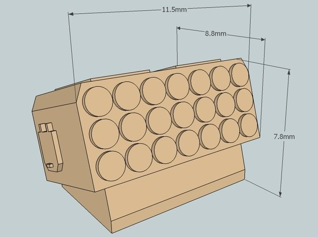 6mm Sci-Fi MLRS Turrets (12 pcs)