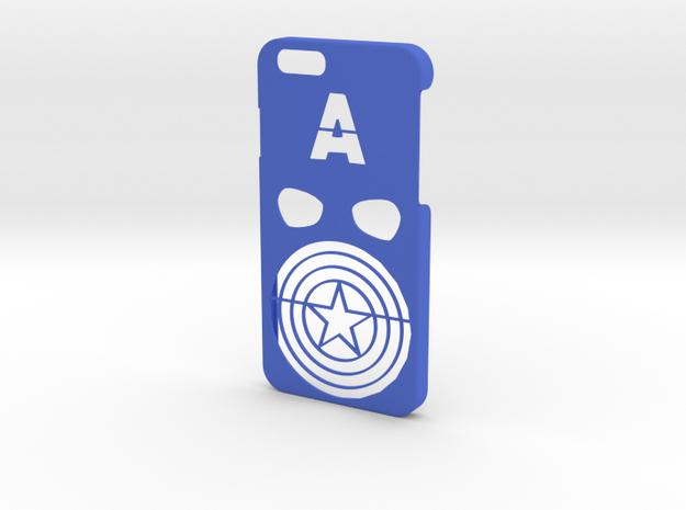 Captain America Phone Case- iPhone 6/6s in Blue Processed Versatile Plastic
