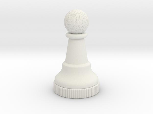 Chess Piece - Pawn in White Premium Versatile Plastic