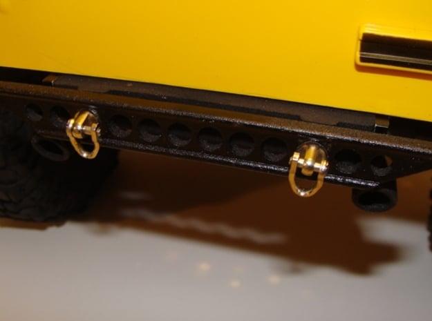 JK Rear Bumper in Matte Black Steel