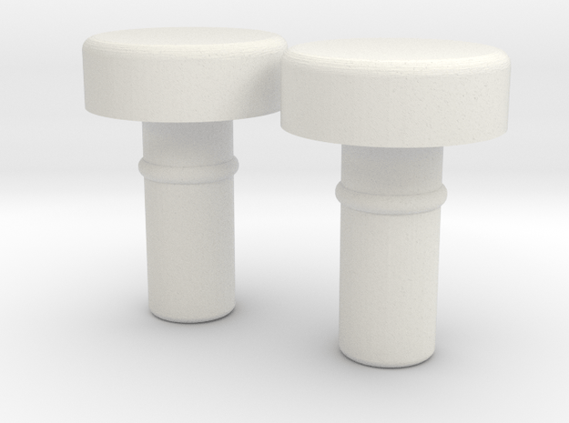 Hands Bump Connector for Minifigures in White Natural Versatile Plastic