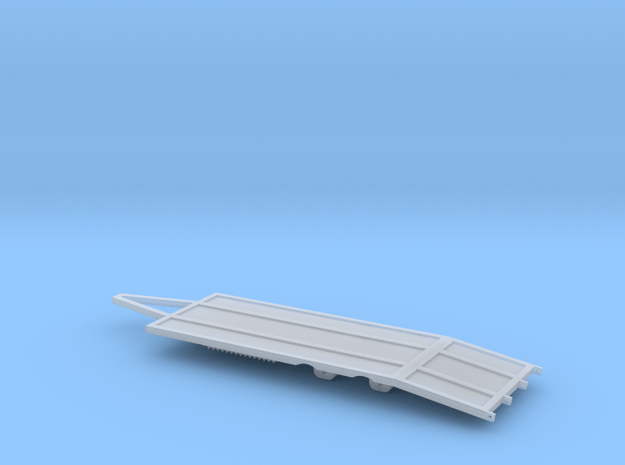 1:64 S scale 22 foot tag trailer in Smooth Fine Detail Plastic