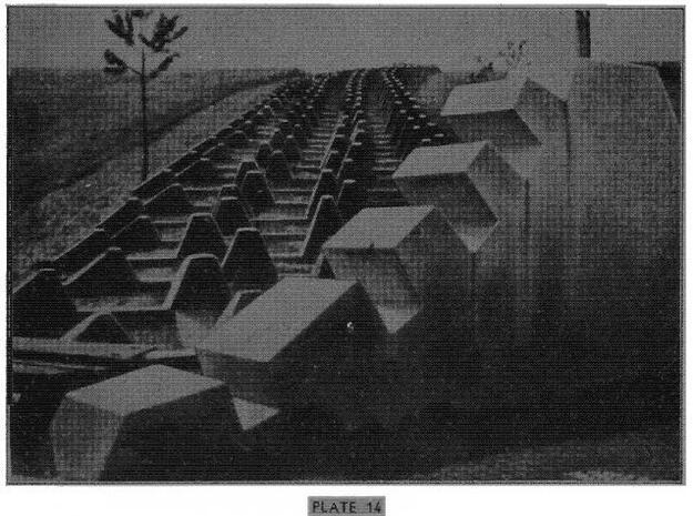WWII German Dragon-Teeth Defense Line - 1/144 - ac in White Natural Versatile Plastic