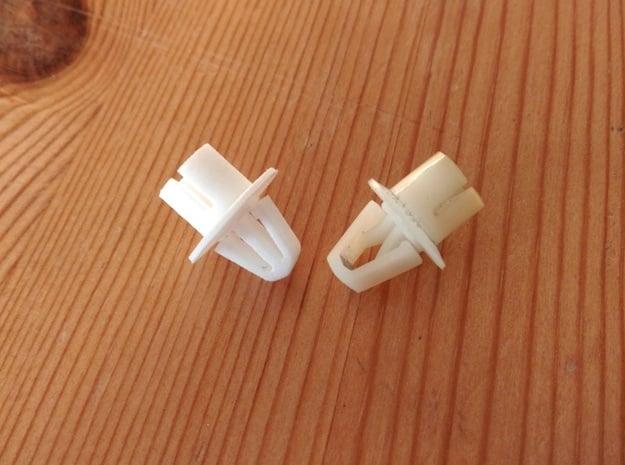 Lancia Delta Headlamp Clip Inte HB in White Processed Versatile Plastic