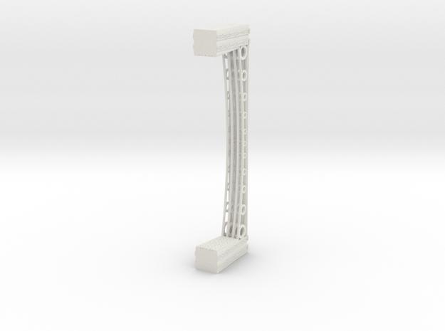 T Gauge 1.450 Iron Bridge Girder with stone piers in White Natural Versatile Plastic