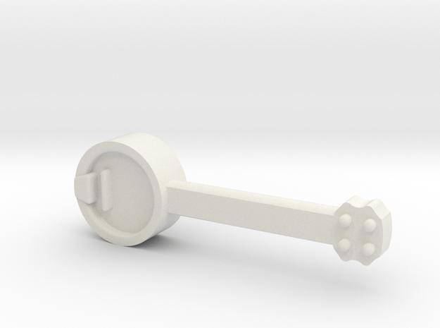 Banjo for Minifigure in White Natural Versatile Plastic