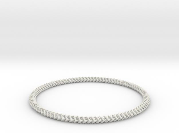 95 Cubes Interlocked Necklace in White Natural Versatile Plastic