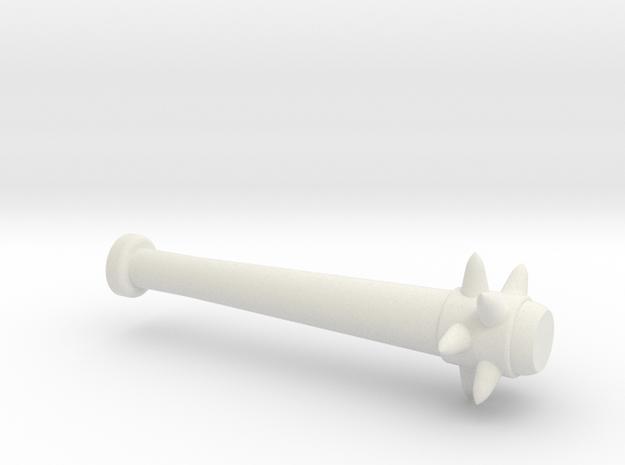 Spiked Baseball Bat for Minifigures in White Natural Versatile Plastic