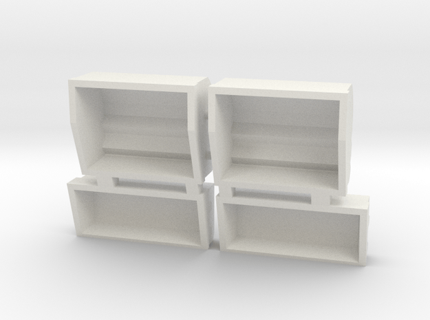 Observatory Side Boxes  in White Natural Versatile Plastic