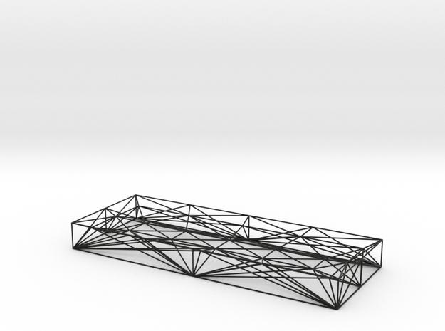 Wireframe pen tray  in Black Natural Versatile Plastic