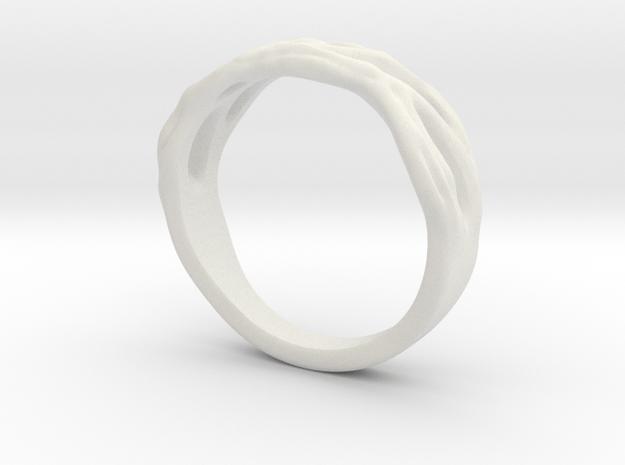 Organic Ring in White Natural Versatile Plastic: 10.5 / 62.75