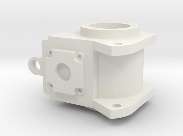 Spindle R in White Natural Versatile Plastic