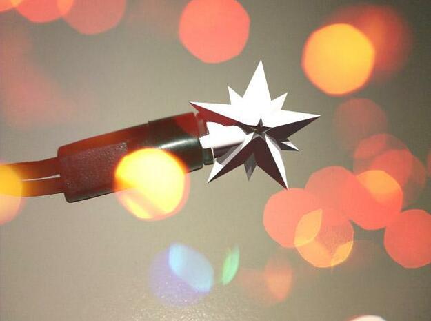 Christmas light cover in White Natural Versatile Plastic