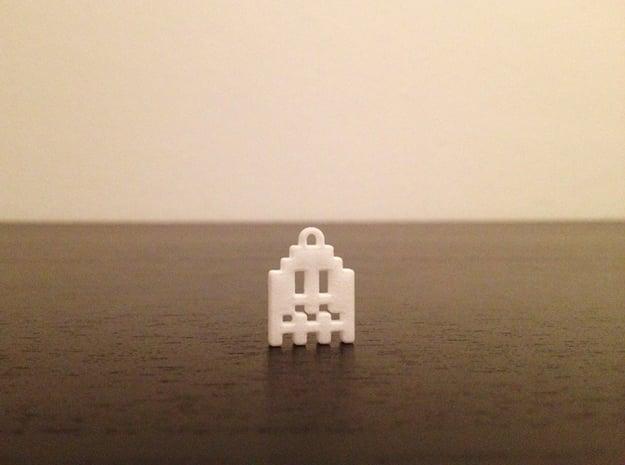 Pac Man Ghost 8-bit Earring 1 (afraid   moving) in Blue Processed Versatile Plastic