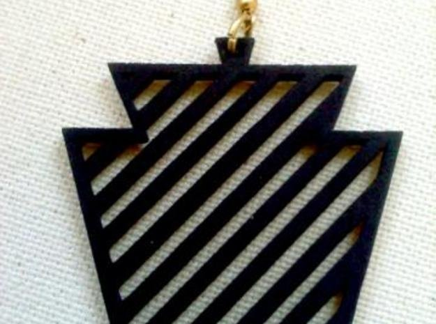 Keystone Earring in Black Natural Versatile Plastic