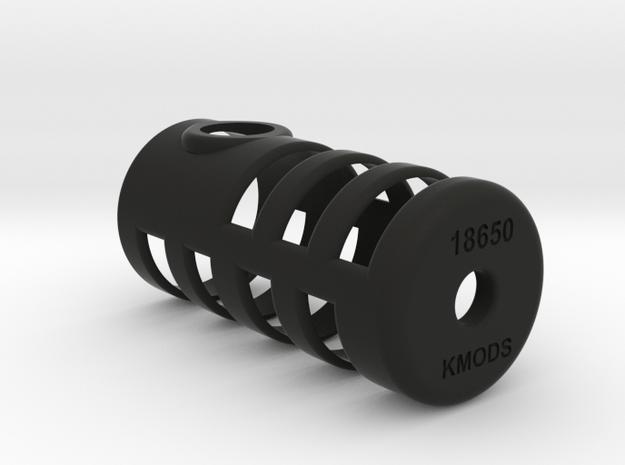 KMODS Big K squonker  adaptor 20700 to 18650 in Black Natural Versatile Plastic