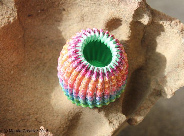 Brain Coral Jewellery Container in White Processed Versatile Plastic
