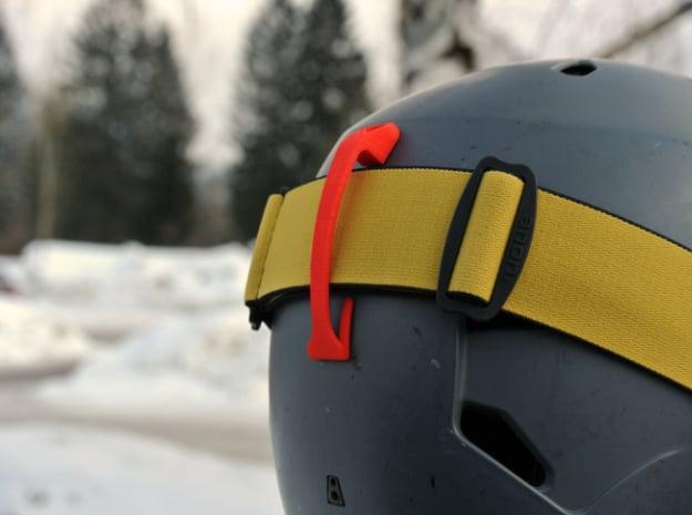 Goggle Clip - compatible with Bern Helmets in Black Natural Versatile Plastic