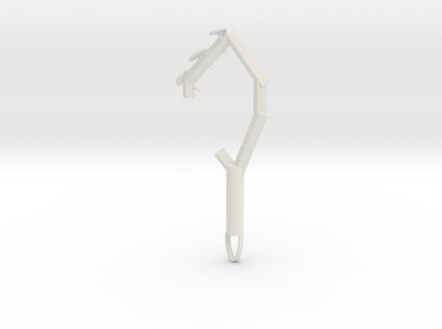 Hog tie in White Natural Versatile Plastic: Medium