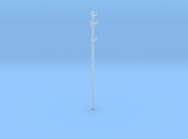 Great Northern Catenary Pole in Smooth Fine Detail Plastic