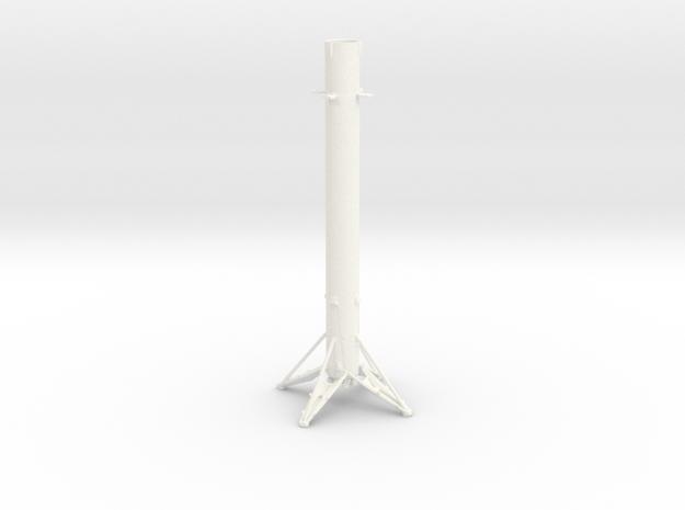 Little Rocket 9 in White Processed Versatile Plastic