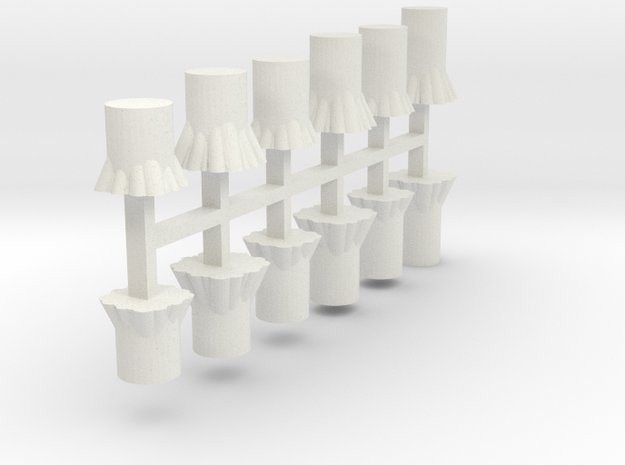 Baumstümpfe 12er Set - 1:120 TT in White Natural Versatile Plastic