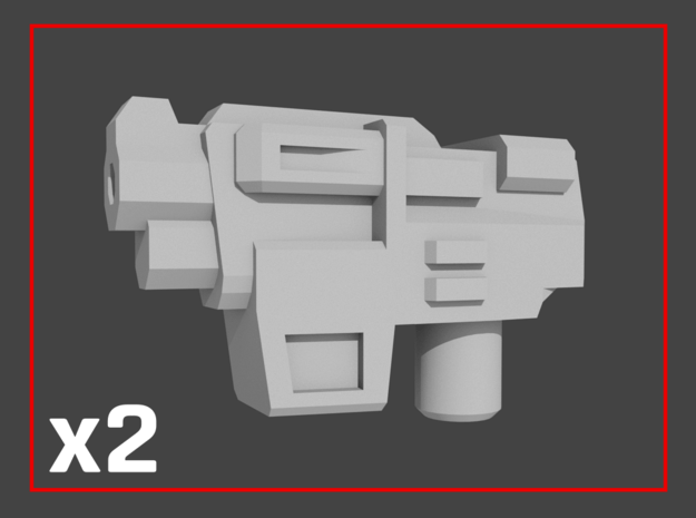 """""""HAMMER-7"""" Transformers Weapons (5mm post) in White Natural Versatile Plastic"""