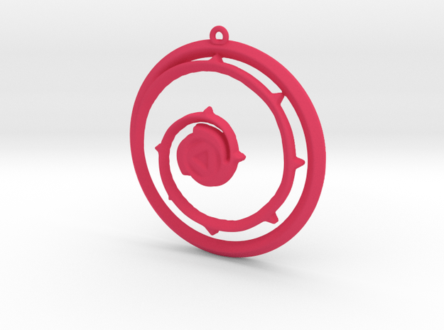 Steven Universe Shield Pendant in Pink Processed Versatile Plastic