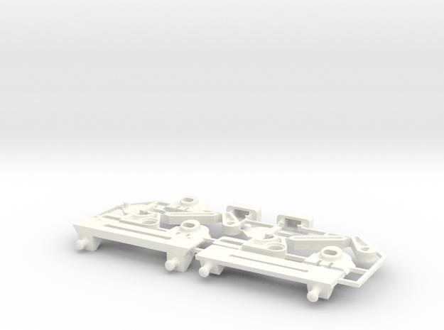 Lancia Delta rep. set FULL Instrument frame in White Processed Versatile Plastic