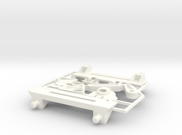 Lancia Delta rep. set VAR2 Instrument frame in White Processed Versatile Plastic