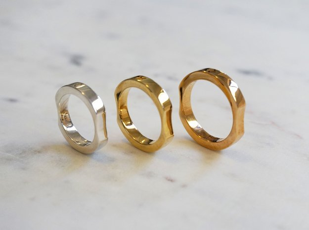 Memory Ring in Polished Bronze: 9 / 59