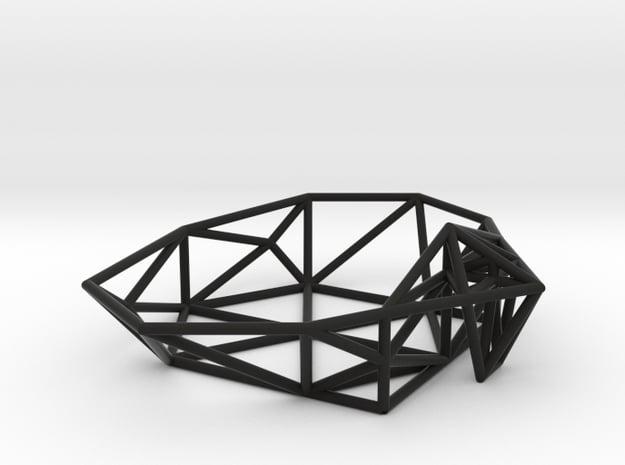Soap dish Triangul-it in Black Natural Versatile Plastic