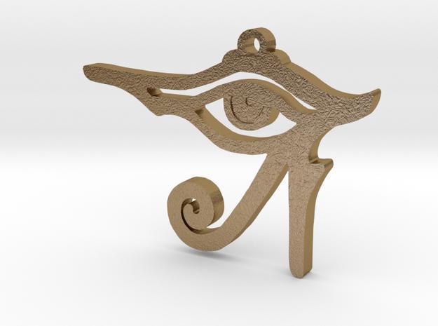 Eye of Ra Pendant in Polished Gold Steel