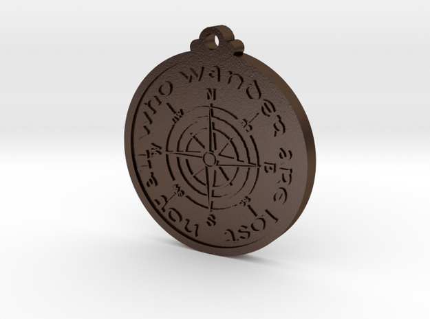 Wanderer Compass  in Polished Bronze Steel